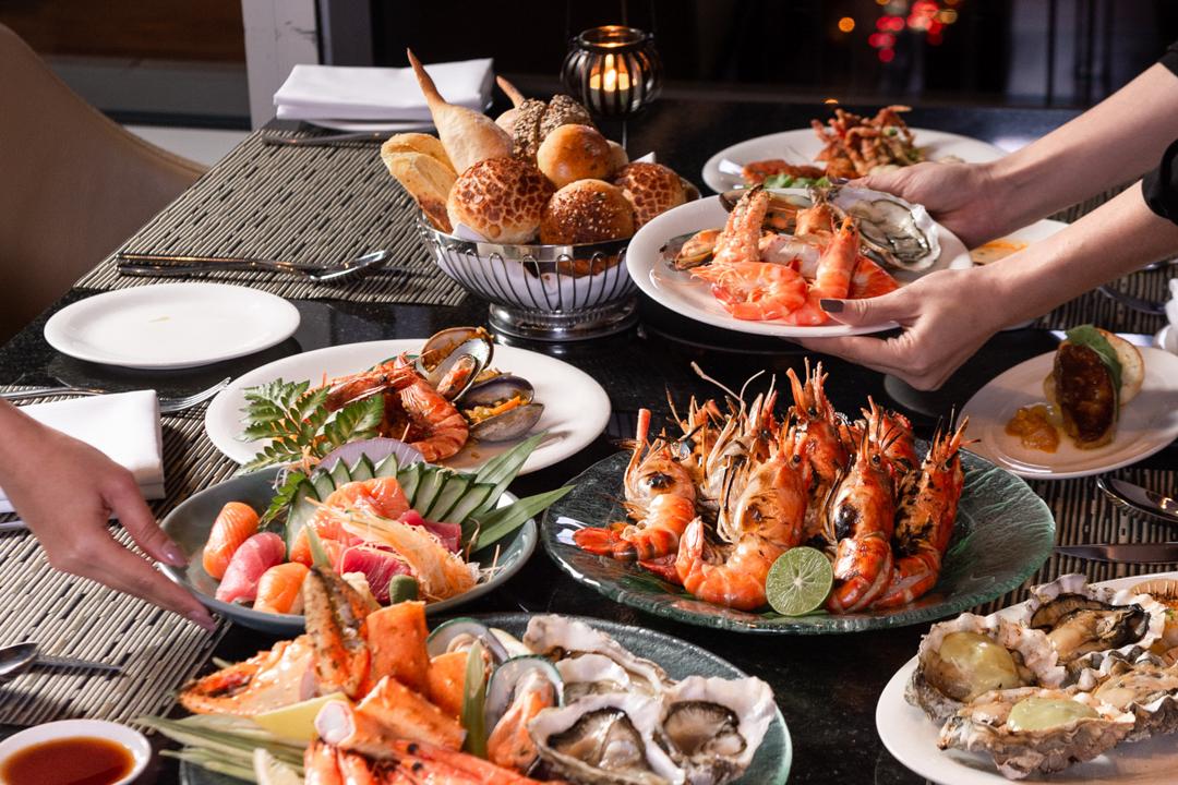 ดินเนอร์ซีฟู้ดบุฟเฟ่ต์ โอกุระกรุงเทพ Dinner Buffet Seafood at The Okra Prestige Bangkok_01