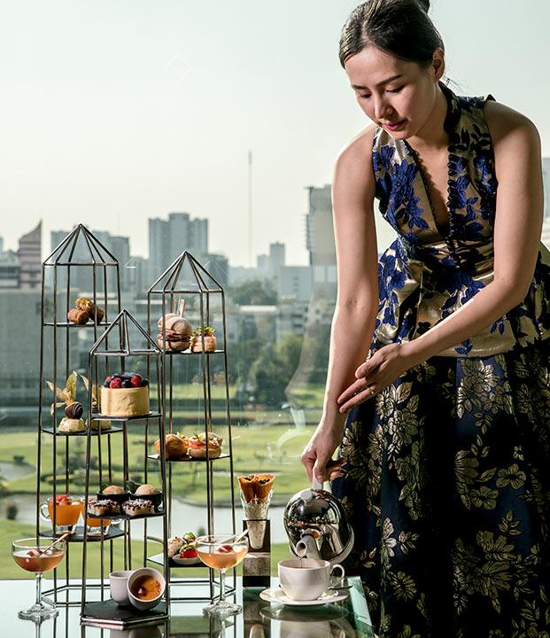 อาฟเตอร์นูนที เซนต์รีจีสกรุงเทพ ร่วมกับดีไซเนอร์แบรนด์ TAWN C. ,Old New York – Modern Bangkok(Afternoon tea St.regis Bangkok_1